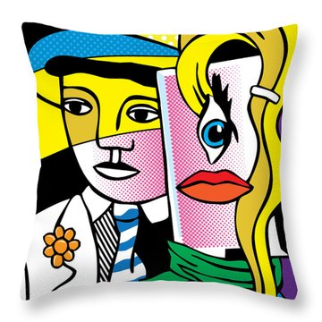 Pop Leger Throw Pillow by Gary Grayson