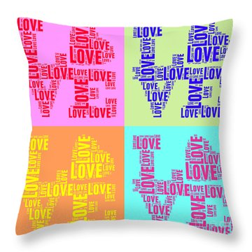 Pop Love Collage Throw Pillow