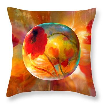 Throw Pillow featuring the painting Pop Twombly by Robin Moline