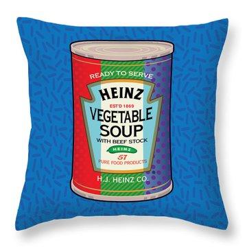 Pop Vegetable Soup Throw Pillow