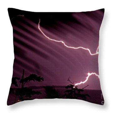Popa Island Lightning Throw Pillow