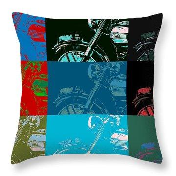 Popart Motorbike Throw Pillow