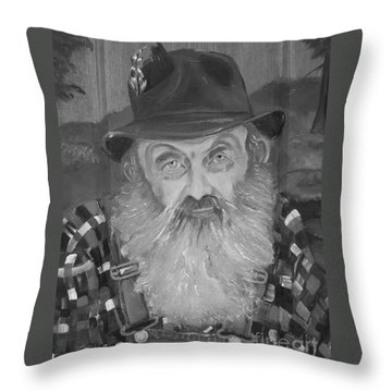 Popcorn Sutton - Jam - Moonshine Throw Pillow