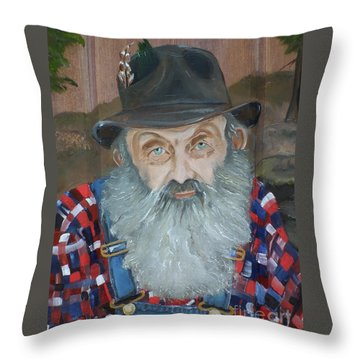 Popcorn Sutton - Moonshiner - Portrait Throw Pillow