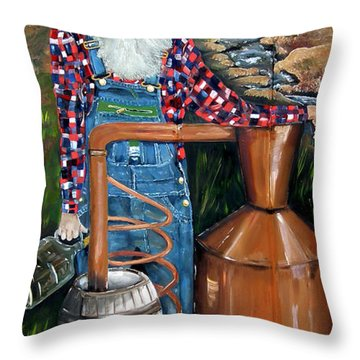 Popcorn Sutton - Moonshiner - Redneck Throw Pillow