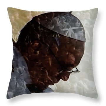 Pope Francis Inauguration Vatican 19 February 2013  Throw Pillow by Colette V Hera  Guggenheim