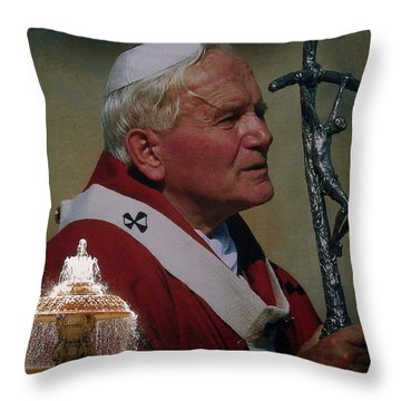 Pope John Paul I I Throw Pillow
