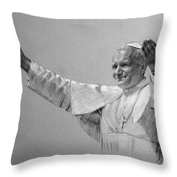 Pastel Portrait Throw Pillows