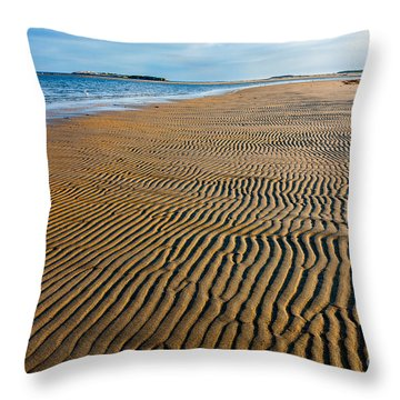 Popham Beach Throw Pillow by Susan Cole Kelly