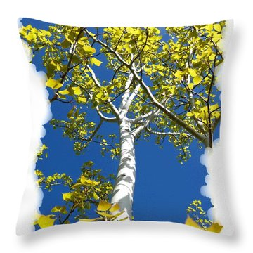 Poplar Tree In Spring  Throw Pillow by Will Borden
