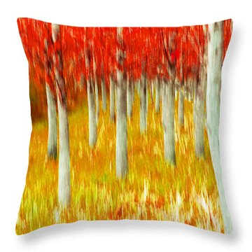 Poplars Throw Pillow