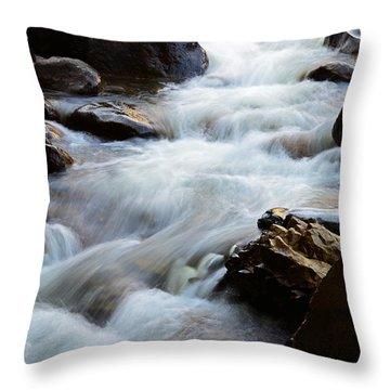 Popo Agie Flow Throw Pillow