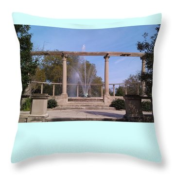 Popp Fountain New Orleans City Park Throw Pillow