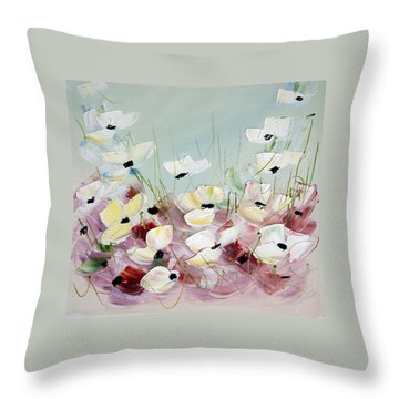 Poppies 5 Throw Pillow