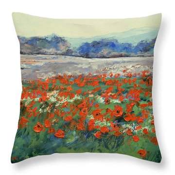 Poppies In Flanders Fields Throw Pillow