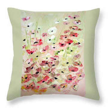 Poppies Knife 2 Throw Pillow