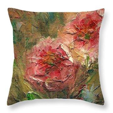 Poppies Throw Pillow