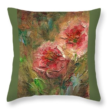 Poppies Throw Pillow by Mary Wolf