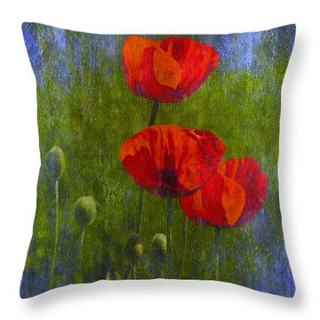 Poppies Throw Pillow by Veikko Suikkanen