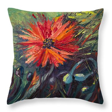 Poppin' Poppies Throw Pillow