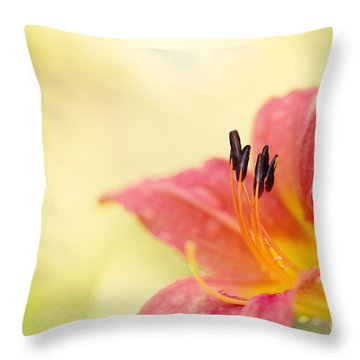 Popping Fresh Throw Pillow by Beve Brown-Clark Photography