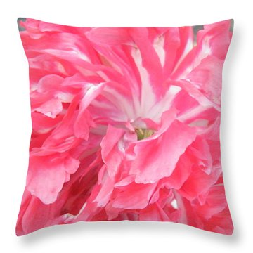 Popping Pink Throw Pillow by Brian Boyle