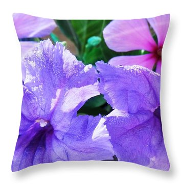 Popping Purple Petals Beauty Throw Pillow by Belinda Lee