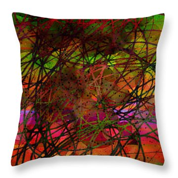 Poppity Pop Pop Pop Throw Pillow by Matt Lindley