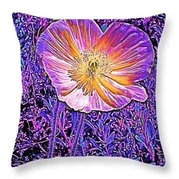 Poppy 3 Throw Pillow by Pamela Cooper