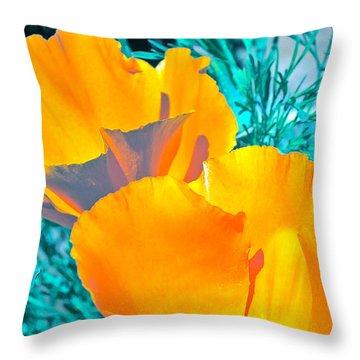 Poppy 4 Throw Pillow by Pamela Cooper
