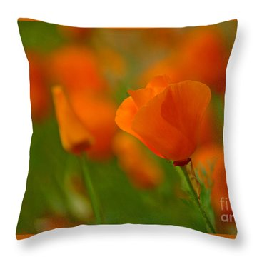Throw Pillow featuring the photograph Poppy Art by Nick  Boren