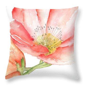Poppy Bloom Throw Pillow
