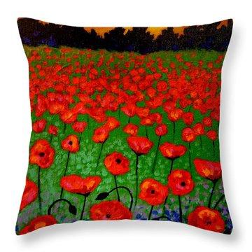 Poppy Carpet  Throw Pillow by John  Nolan