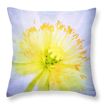 Poppy Close Up Throw Pillow by Darren Fisher