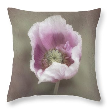 Throw Pillow featuring the photograph Poppy by Elaine Teague