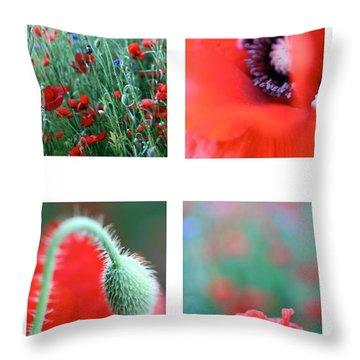 Poppy Field 1 Throw Pillow by AR Annahita