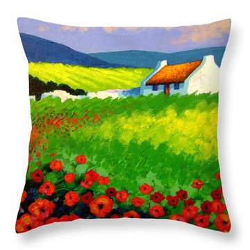 Poppy Field - Ireland Throw Pillow