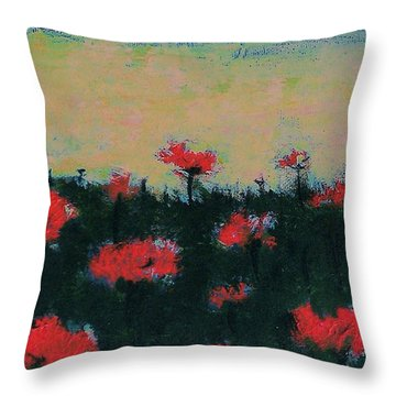 Poppy Field Throw Pillow by Jacqueline McReynolds