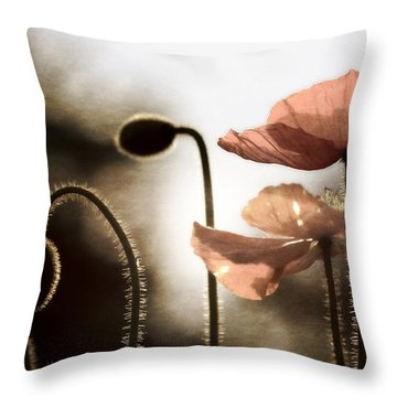 Poppy Generations Throw Pillow