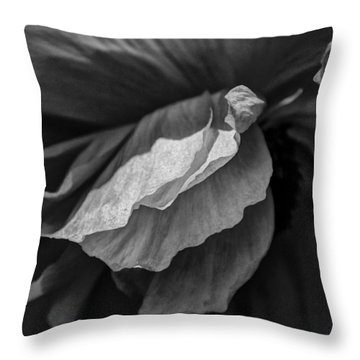 Poppy In Black And White May 2011 Throw Pillow by Joseph Duba