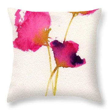 Poppy Pirouette Throw Pillow