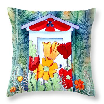 Poppy Potty Throw Pillow