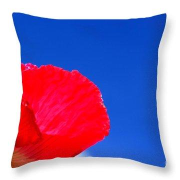 Poppy Sky Throw Pillow by Baggieoldboy