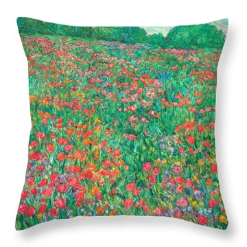Poppy View Throw Pillow