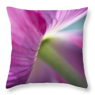 Poppy's Pink Skirts Throw Pillow by Jan Bickerton