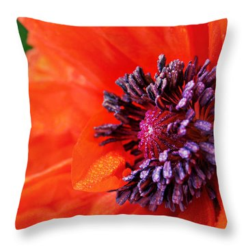 Poppy's Purple Passion Throw Pillow