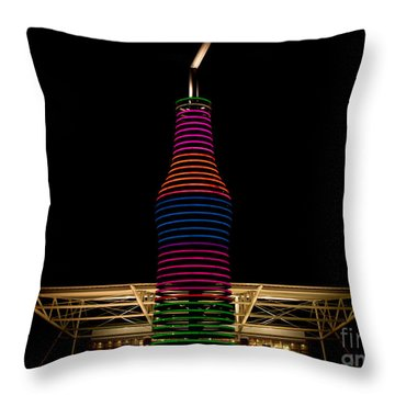 Pops On Route 66 Throw Pillow by Robert Frederick