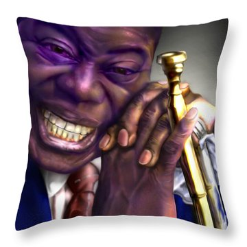Pops Throw Pillow by Reggie Duffie