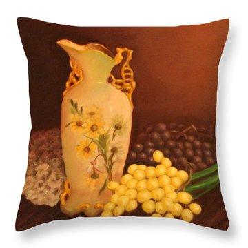 Porcelain Vase Throw Pillow by Lou Magoncia