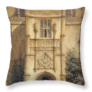 Porch At Montacute, 1842 Throw Pillow